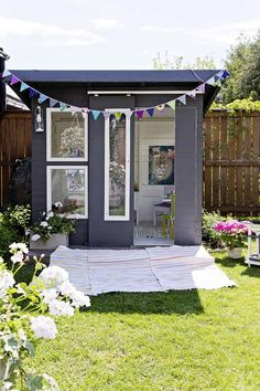 Awesome Outdoor Kids Playhouses To Build This Summer - Backyard Garden Diy Kids Modern Playhouse, Kids Indoor Playhouse, Outside Playhouse, Backyard Playhouse, Build A Playhouse, Outdoor Playhouses, Toddler Playhouse, Outdoor Fun, Outdoor Spaces