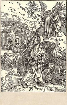 16. The Angel with key of the abyss and the new Jerusalem / Dürer, Albrecht / The Apocalypse [series] #16 of 16