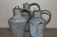 Galvanised jugs... www.millingtonandhope.com
