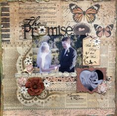 Scrap FX products featured: The Promise title, flourish tag, and heart pillow frame. www.scrapfx.com.au
