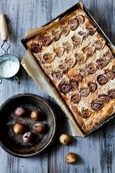 Gateau De Riz Aux figues    Serves 6 to 8    Ingredients:  1 cup short grain rice  1 cup water  1 can coconut milk (14oz)  1/3 cup packed light brown sugar  6 large eggs  20 small figs (more if necessary to cover surface of cake, mine were really tiny)fig
