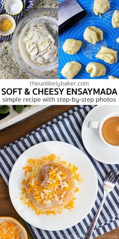 Ensaymada — soft, cheesy, sugary, buttery, absolutely delicious! This filipino soft bread is perfect with your morning coffee, your afternoon tea or with that steaming cup of hot chocolate. It's simple to make too, follow along with step-by-step photos. #filipinobread #ensaymada #easyrecipe Ensaymada Recipe, Breakfast Bread Recipes, Recipe Maker, Steaming Cup, American Desserts, Good Food, Yummy Food, Filipino Recipes, Sweet Bread