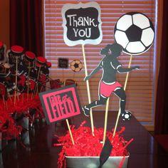 Soccer Girl Centrepieces using Cricut Sports Mania