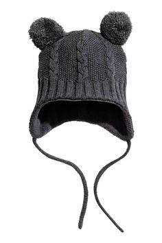 Čepice s flísovou podšívkou - Tmavě šedá - DĚTI | H&M CZ 1