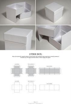 2-Tier Box - Packaging & Dielines: The Designer's Book of Packaging Dielines: