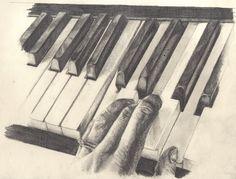 Piano Keys Sketch II by 88cathwalk on deviantART