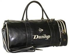 Dunlop Sports Vintage Gym Holdall - Black Leather Look Weekender a5c302ab33648