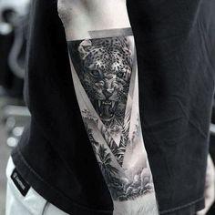 Grab your hot tattoo designs. Get access to thousands of tattoo designs and tattoo photos Tattoos Masculinas, Best Sleeve Tattoos, Love Tattoos, Pretty Tattoos, Small Tattoos, Cheetah Tattoo, Tiger Tattoo, Tattoo Cat, Lion Tattoo