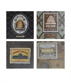 "12"" Square Canvas Honey Wall Décor"