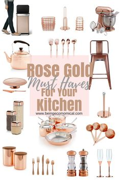 Looking to add some glam to your kitchen this year? Now is the perfect time to stock up and refresh. Check out the latest in rose gold and copper kitchen appliances and accessories!