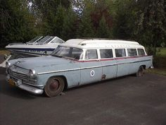 Limo 1956 Chrysler 8 Door Station Wagon Not Dodge Plymouth Desoto Big Rig Trucks, Old Trucks, Desoto Cars, Car Barn, Automobile, Chrysler Imperial, Abandoned Cars, Limousine, Unique Cars