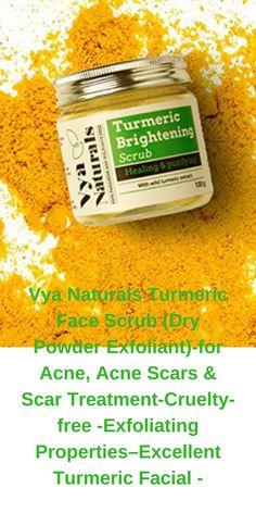 Turmeric Facial Scrub https://www.amazon.com/Vya-Naturals-Treatment-Cruelty-free-Exfoliating-Properties-Excellent/dp/B06XHHFR3D/ref=as_li_ss_tl?ie=UTF8&qid=1516331244&sr=8-4&keywords=turmeric+face+mask+for+acne&th=1&linkCode=ll1&tag=tore0fa-20&linkId=faf3e2761305ca3dd1b7530fe9da534b