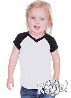 Unisex Infants Sheer Jersey V Neck Football Tee Kavio