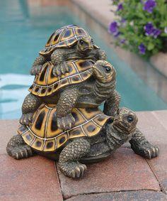 Design Toscano Threeu0027s A Crowd Stacked Turtle Statue