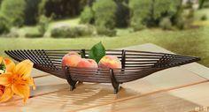 moderne Deko-Schale für Sideboard, Bambus auf stabilem Holzrahmen, eingefärbt in warmem Mokkabraun -JETZT KAUFEN