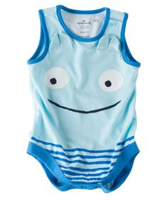He'll be smiling all the time in this cute, 100% cotton body suit with smiley design. Designed by Hallmark artists for Hallmarkbaby.com.
