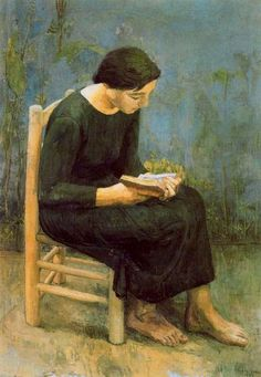 Woman reading a book by Antonio López Garcia: History, Analysis & Facts People Reading, Girl Reading Book, Reading Art, Book People, Woman Reading, Figure Painting, Painting & Drawing, Auguste Macke, Munier