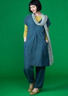 Dress in linen & cotton
