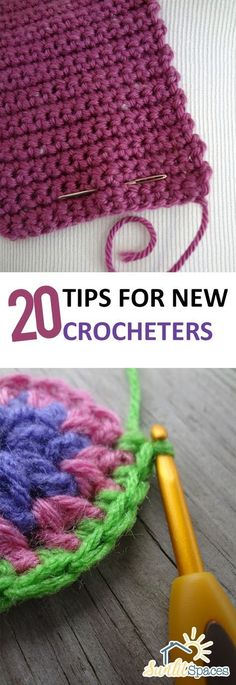 20 Tips For New Crocheters Tutorial - (sunlitspaces)