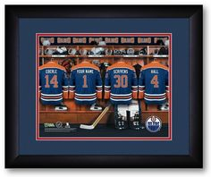 Edmonton Oilers NHL Personalized Locker Room Print