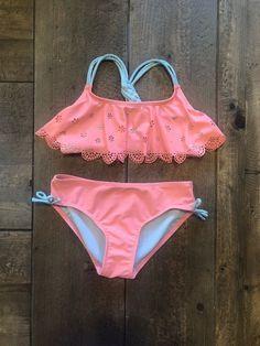 94dfe69e45565 Girls Size M 7/8 Peach Bikini Cat & Jack #fashion #clothing