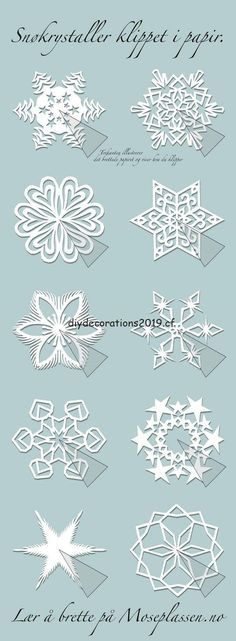 Paper snowflakes and other kirigami patterns. by carlene Paper snowflakes and other kirigami patterns. by carlene Kirigami Patterns, Paper Snowflakes, Christmas Snowflakes, Christmas Paper, Christmas Ornaments, Paper Snowflake Patterns, Paper Patterns, Diy Snowflake Paper, Snowflake Template