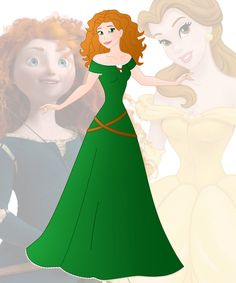 A new series in which I mix 2 disney princesses into 1 This is a mix of Belle and Merida, her name is Brenda Hope you like her Other combinations:  Anna + Ariel : willemijn1991.deviantart...