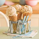 Different flavors of homeade ice cream that uses sweetened condensed milk as a base.
