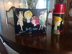 Vintage 1964 Barbie and Midge Vinyl Lunchbox with Barbie Thermos (1962)