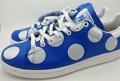 Adidas x Pharrell Williams Stan Smith Men Sneaker Shoe BPD Polka Dot Blue  12 NEW a74bb2c226bb0