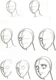Marvelous Learn To Draw Manga Ideas. Exquisite Learn To Draw Manga Ideas. Drawing Heads, Body Drawing, Manga Drawing, Doodle Drawings, Cartoon Drawings, Easy Drawings, Drawing Techniques, Drawing Tips, Drawing Sketches