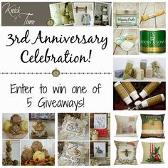 Knick of Time: Blog Anniversary Giveaway - #2