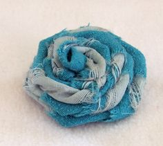 small silk flower brooch pin fabric brooch with by GoblinStitch, $5.00