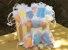 50 Custom Order Scented Bath Salts for party favors, Wedding favor, baby shower on Etsy, $27.50