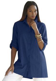 Plus Size Linen Bigshirt