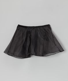 Take a look at this Black Organza Skirt - Toddler & Girls by Ferreira on #zulily today!