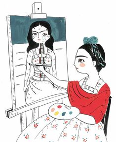 Frida by Maria Hesse Illustrations, Illustration Art, Maria Hesse, Frida Kahlo Portraits, Frida Art, Figure Sketching, Doll Painting, Human Art, Bathroom Art