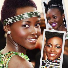 Camaleoa. Assim podemos descrever o estilo de @lupitanyongo uma das atrizes mais bem-vestidas e ousadas de sua geração que consegue levar seu senso de moda afiadíssimo do guarda-roupa ao nécessaire  e suas escolhas de beauté inusitadas (e multicoloridas) merecem atenção especial. Clique no link da bio e inspire-se com os 40 makes mais incríveis de Lupita na matéria de @larissagargaro. #lupitanyongo #maquiagem #beleza by voguebrasil