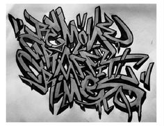 Graffiti Alphabets turned into graffiti art: many styles, colours, themes and calligraphy examples in this inspirational graffiti alphabet selection. Graffiti Quotes, Best Graffiti, Graffiti Murals, Graffiti Styles, Graffiti Lettering, Street Art Graffiti, Lettering Ideas, Graffiti Artists, Lettering Styles