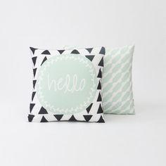Hello Decorative Pillow Set