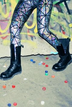 DISCO LEGGINGS,  Bottoms, hologram  printed leggings  crazy leggings, Urban / Streetwear
