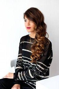 Gorgeous Hair!! Side Part Curls Tutorial
