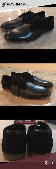 ZARA MEN DRESS LEATHER/SUEDE COMBINATION EU 42/US9 Brand New With Tags Attached! Leather and Suede Combo.  Retail $99 Zara Shoes Oxfords & Derbys
