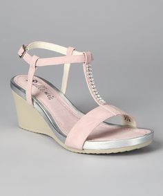 Look what I found on #zulily! Light Pink Temple Wedge Sandal #zulilyfinds