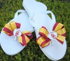 USC Trojan Flip Flops. Cute to wear for Game Day