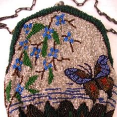 Beaded butterfly bag vintage