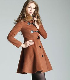 $69.99  Combination Coat With Short Blazer And Flared Dress#group buying#whatabeautifullife.com