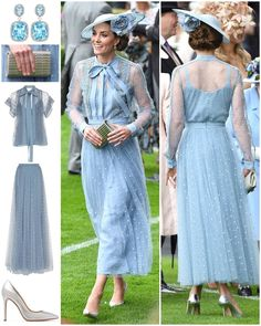 The Duchess chose an elegant, fairytale-like Elie Saab ensemble for today's Royal Ascot. Elie Saab has been a label many Kate-fans have… Looks Kate Middleton, Estilo Kate Middleton, Kate Middleton Outfits, Princess Kate Middleton, Pippa Middleton, Elie Saab, Kate And Pippa, Prinz William, Estilo Real