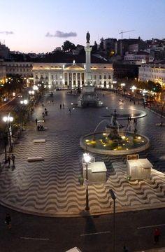 Rossio Square - Lisbon, Portugal // by TKpics616 via Flickr