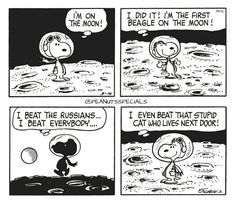 First Appearance: March 14th, 1969 #peanutsspecials #ps #pnts #schulz #snoopy #moon #first #beagle #beat #russians #everybody #stupidcat #lives #nextdoor www.peanutsspecials.com